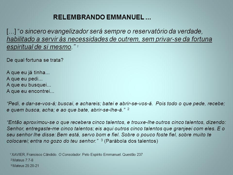 RELEMBRANDO EMMANUEL. [